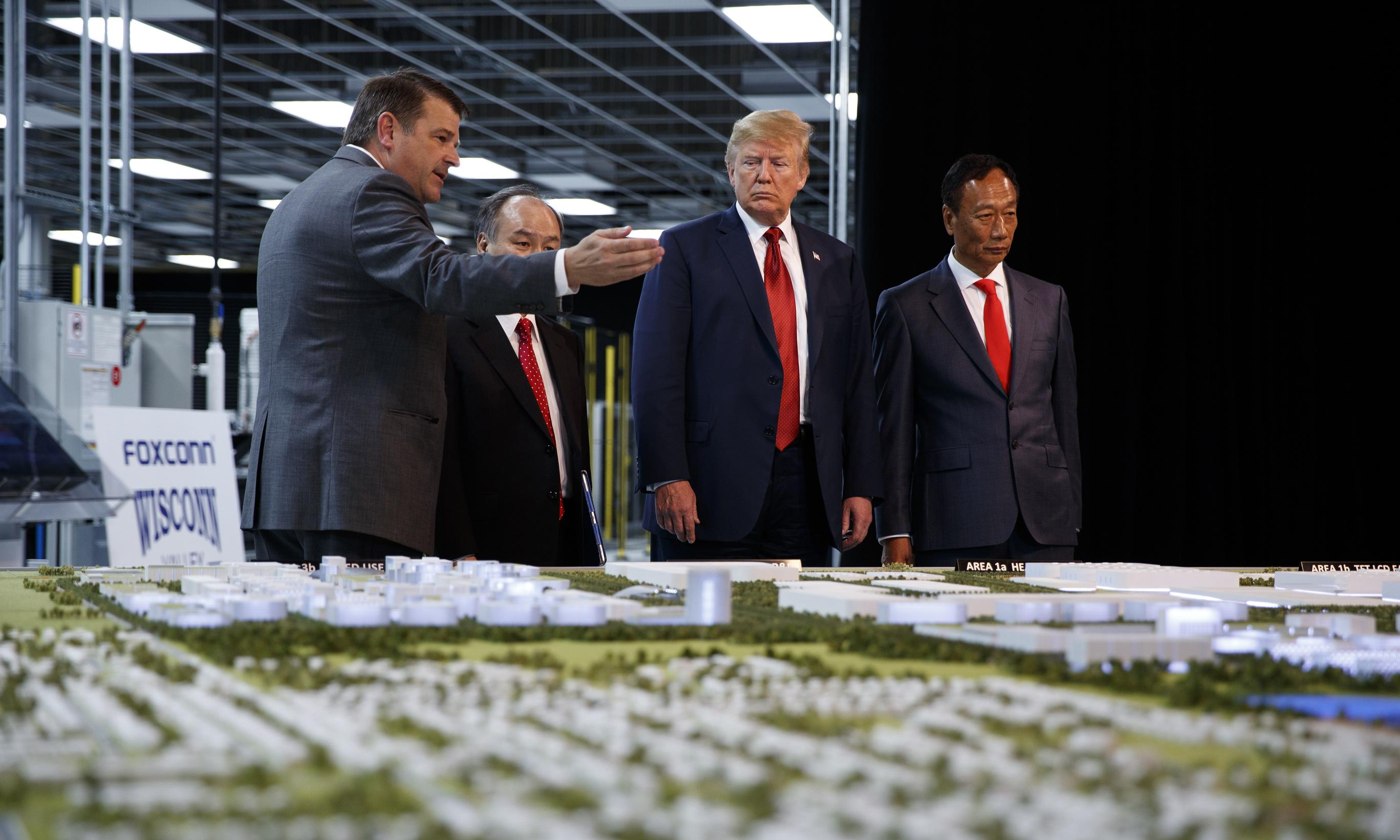 Foxconn makes U-turn on $10bn Wisconsin factory after call with Trump
