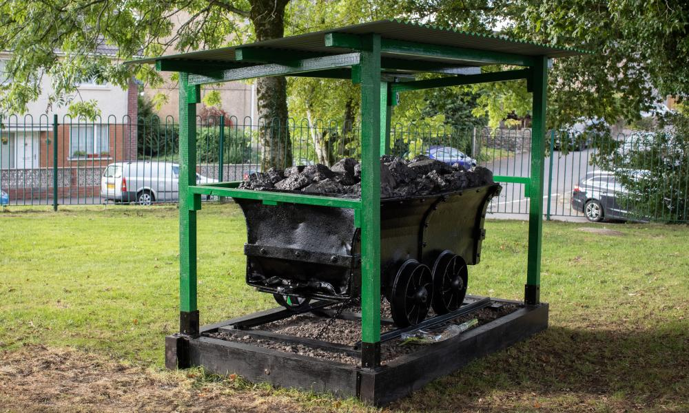 The memorial – a dram (mining truck) – was unveiled in Rhos on Wednesday.