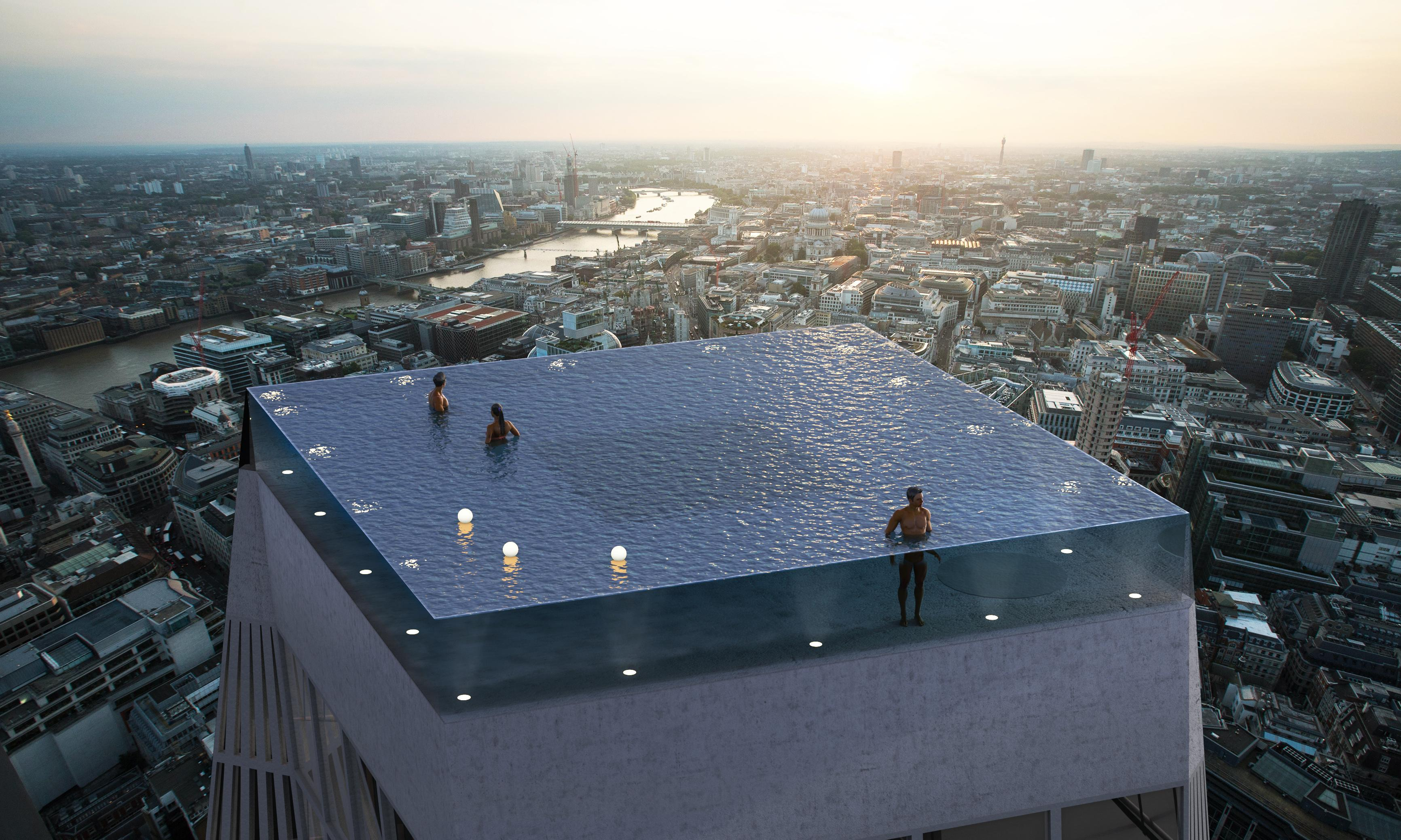The skyscraper infinity pool – sorry, but where's the diving board?