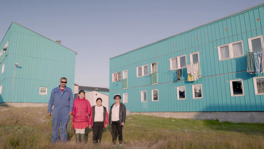 Claus Rassmussen with his family in Ilulissat, Greenland.
