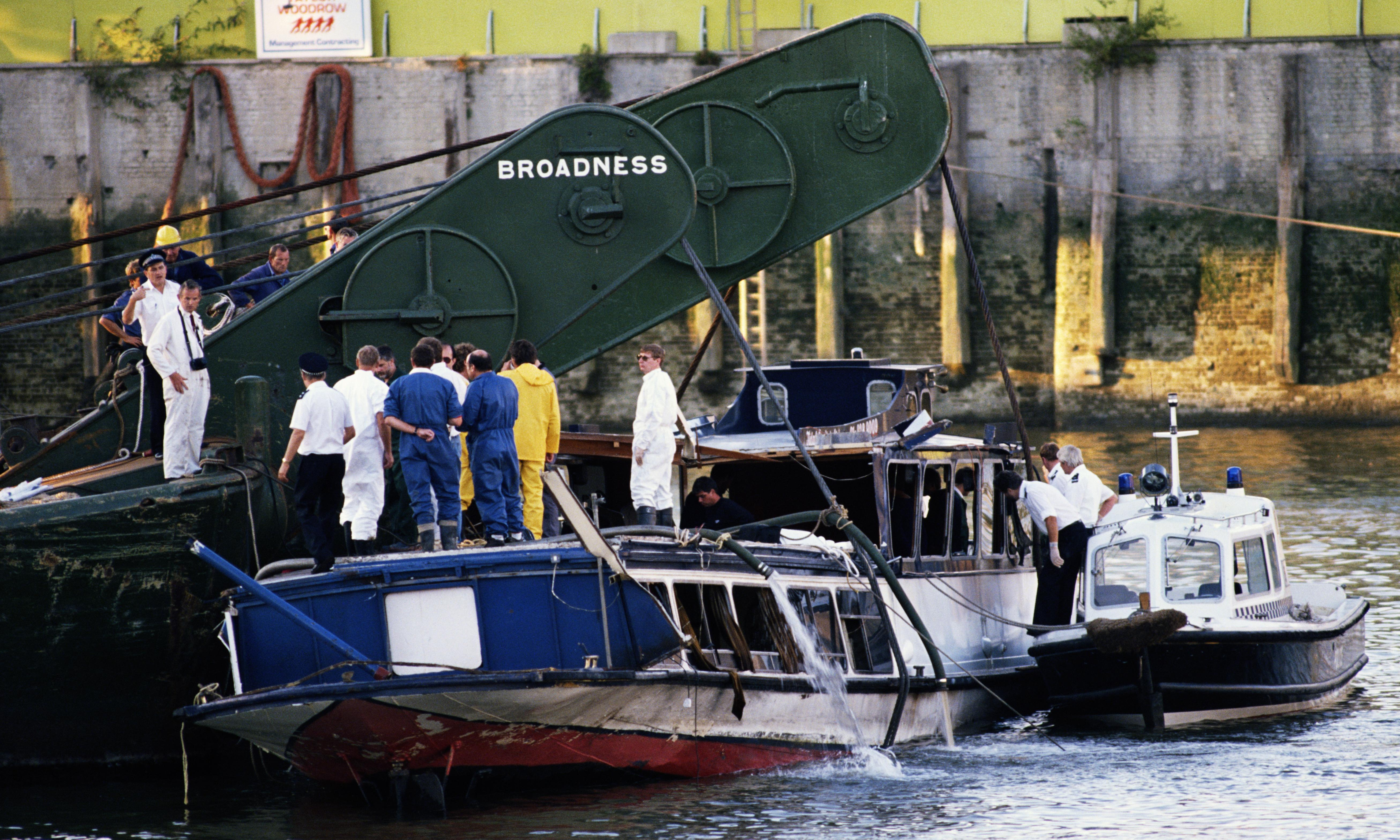 Thames vigil to be held on 30th anniversary of Marchioness disaster