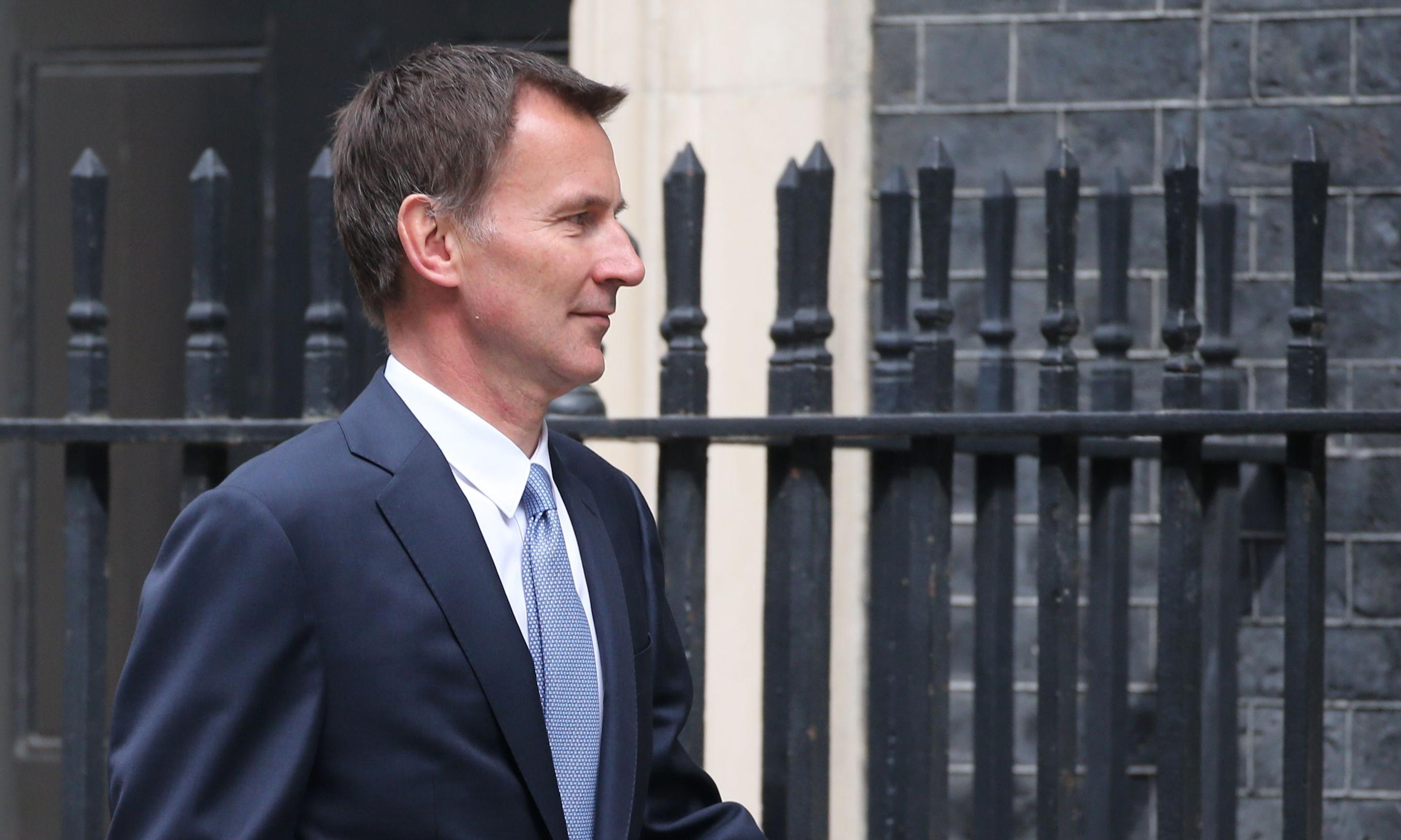 Hunt calls for Trump to address parliament during state visit