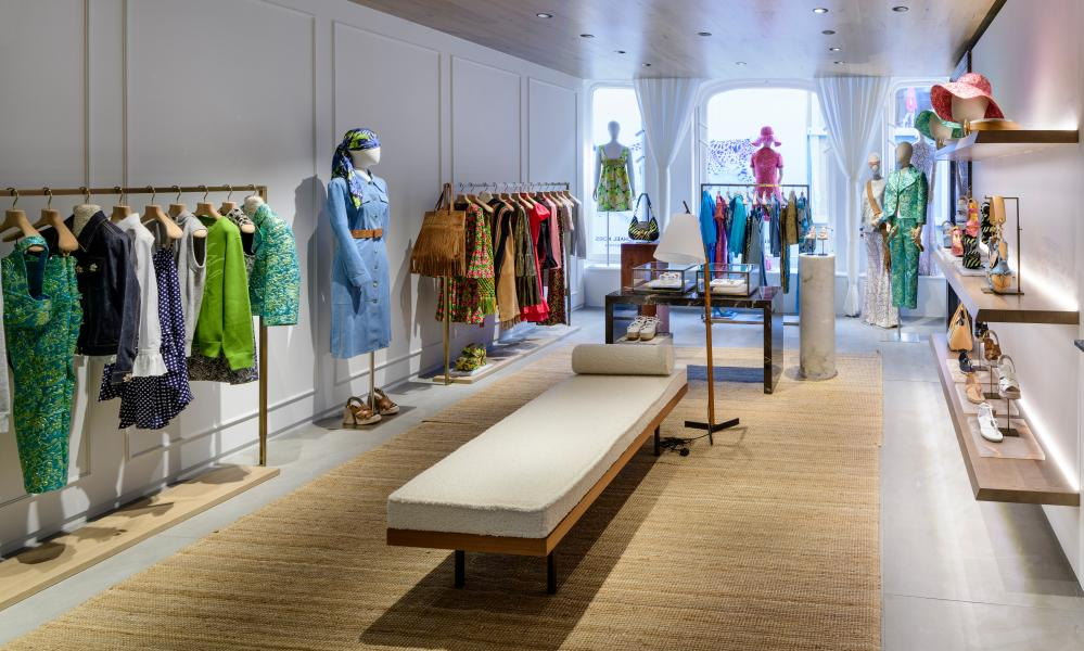 'At the smart end': inside the new Bond Street boutique.