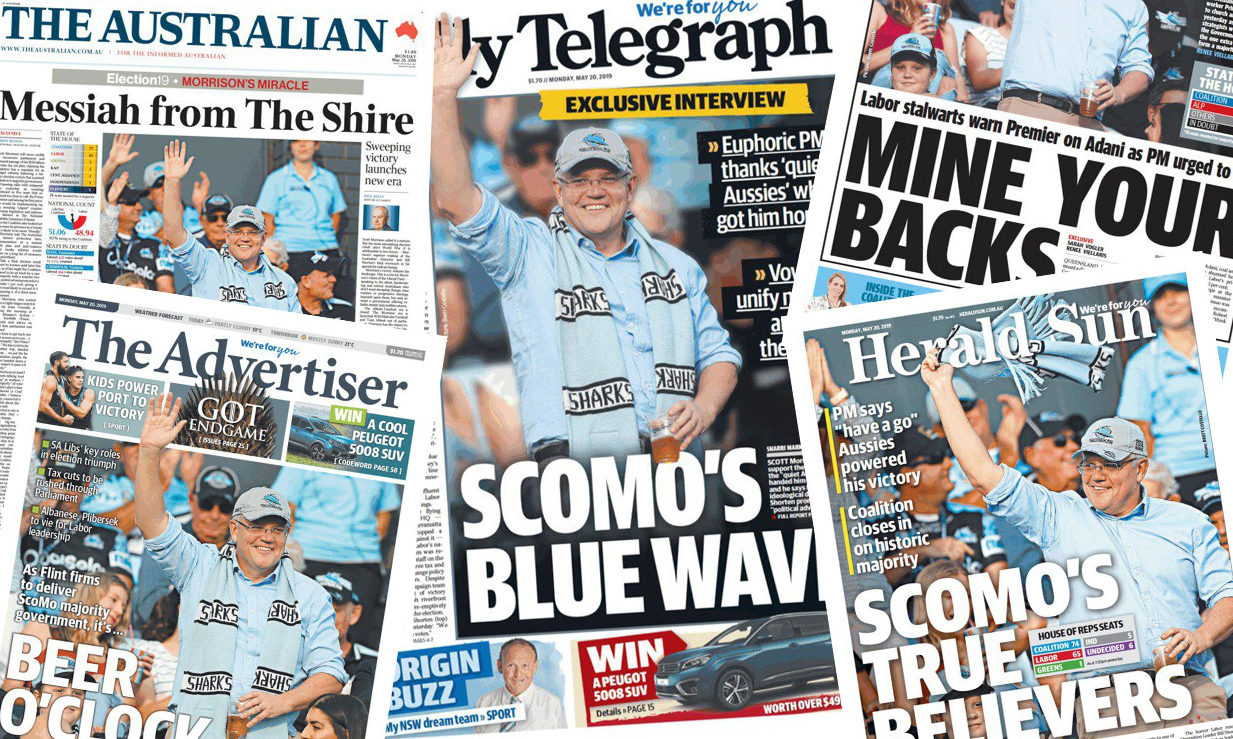 Murdoch's 'messiah': News Corp gets biblical with coverage of Morrison's resurrection