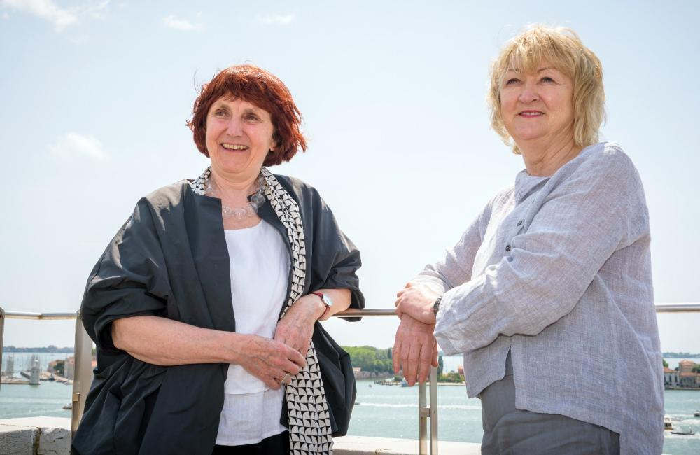 Shelley McNamara and Yvonne Farrell of Grafton Architects in Venice.