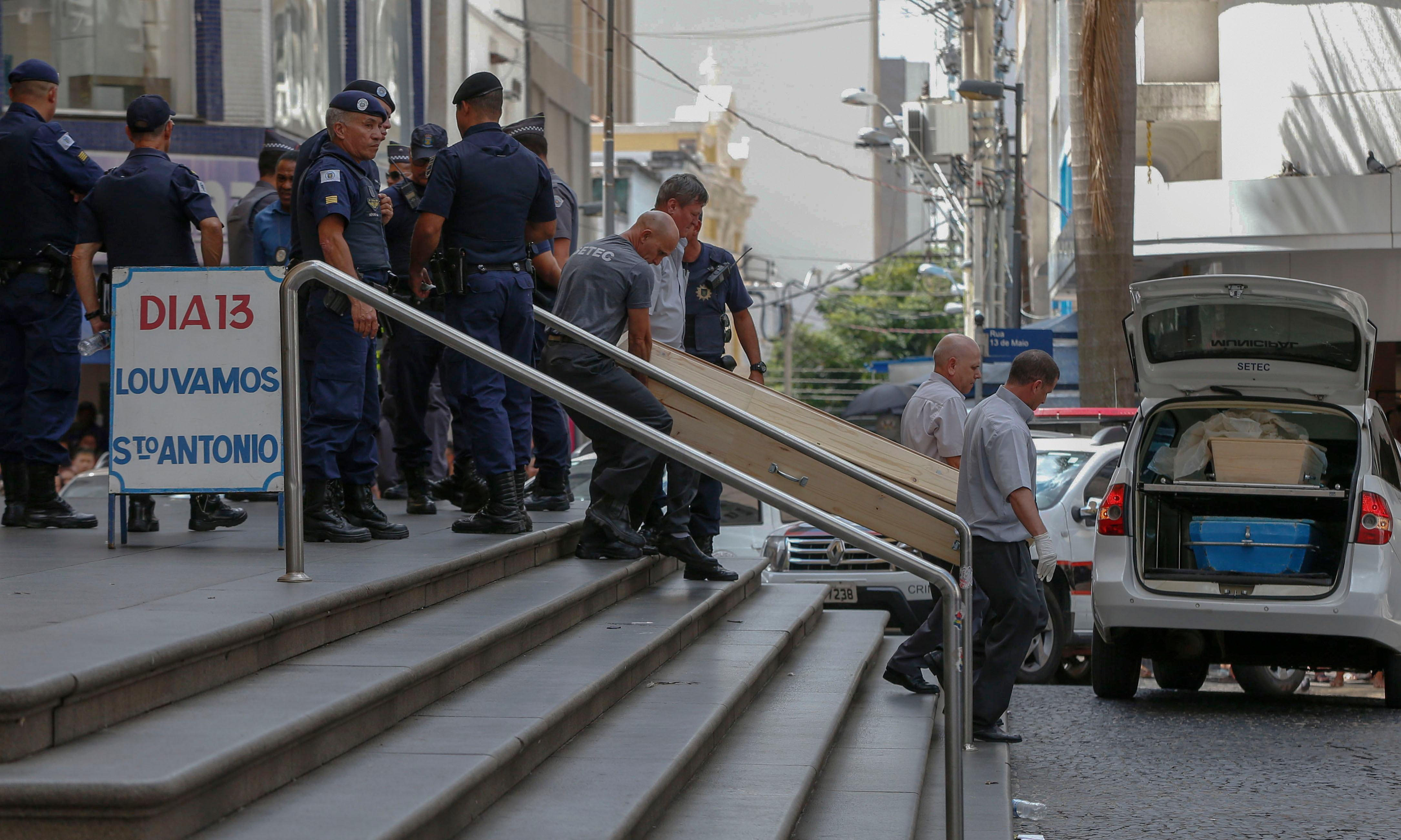 Brazil: gunman kills four worshippers during mass at cathedral