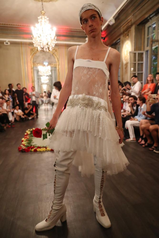 Palomo Spain menswear spring/summer 2018 collection, Paris Fashion Week, June.