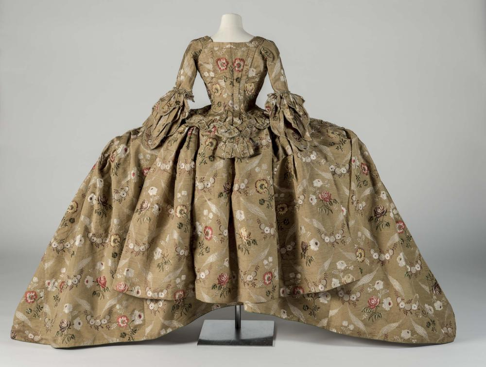 An 18th-century mantua from the Barbican's The Vulgar: Fashion Redefined exhbition