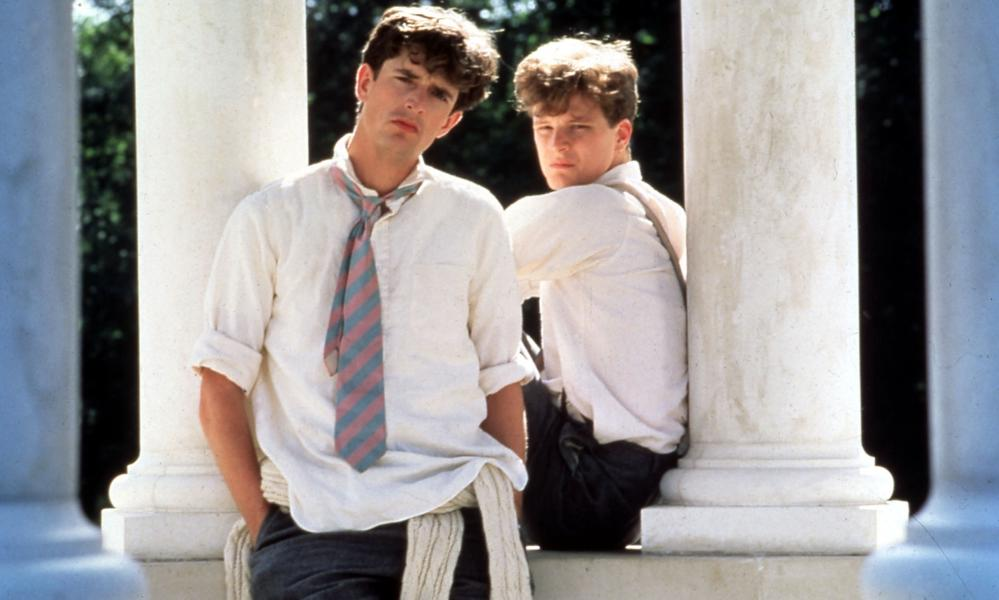 Still from 1984 film Another Country showing Rupert Everett and Colin Firth