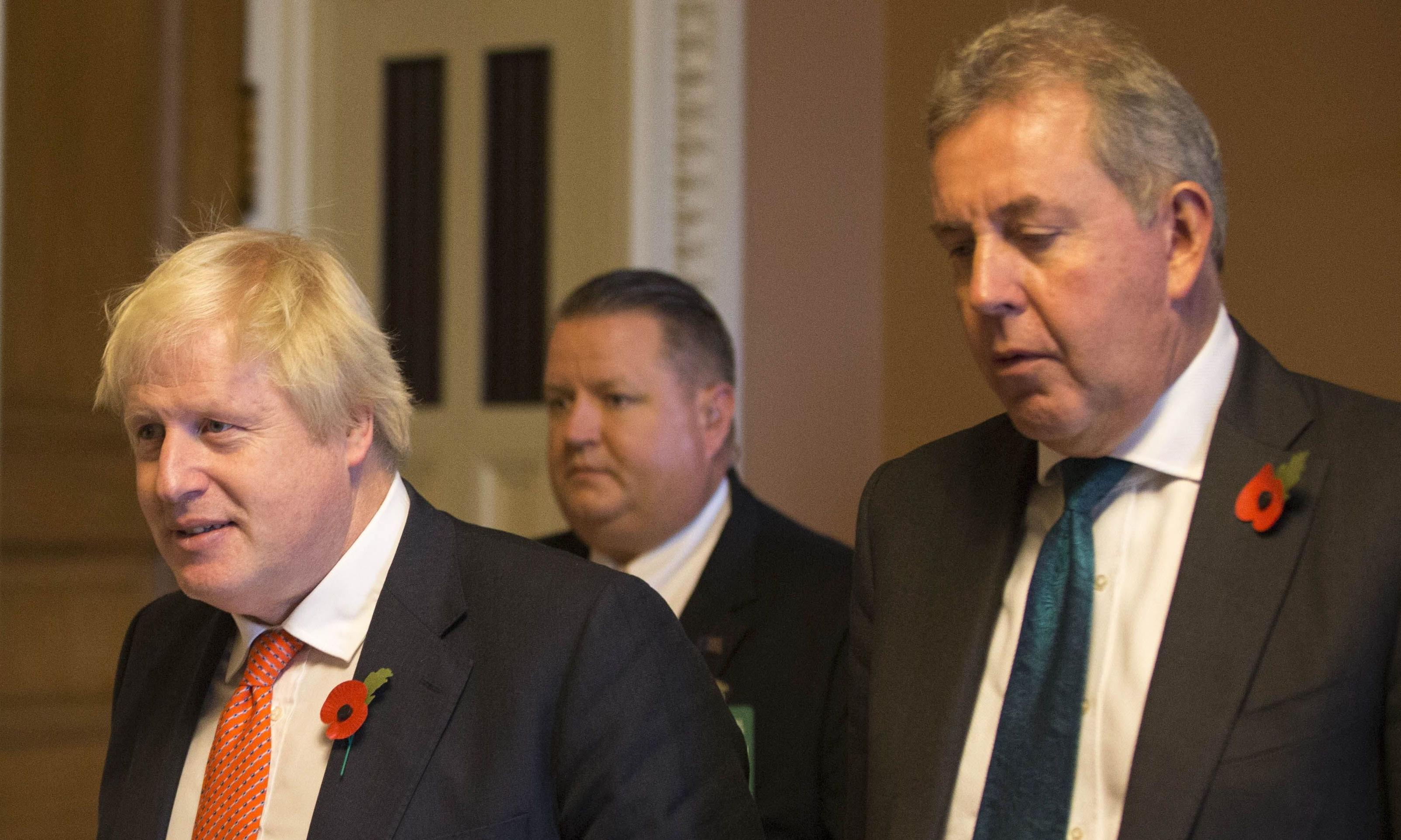 Kim Darroch: effectively sacked by Johnson on the orders of Trump