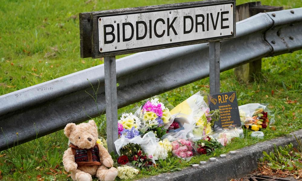 Tributes are left near the scene of the shooting