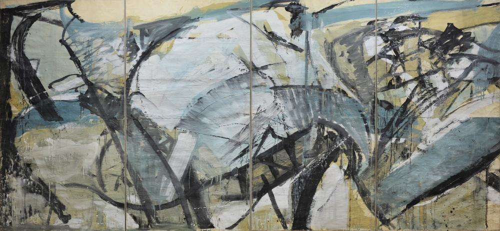 The Conflict of Man with Tides and Sands, 1960, a gouache on paper for Liverpool University.