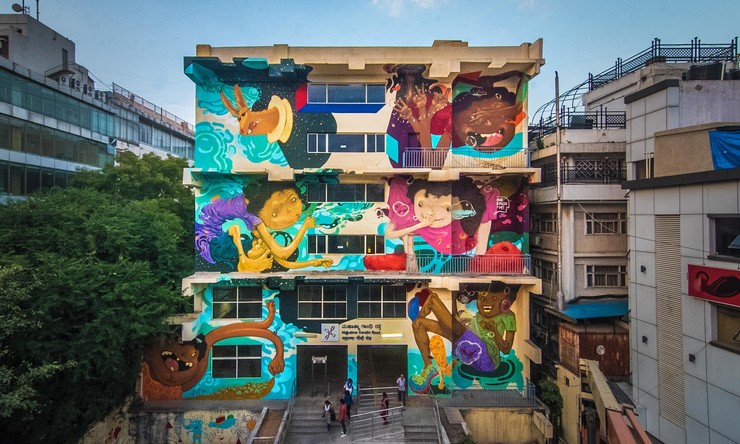 The mega mural movement: how India's rundown railway stations have been transformed