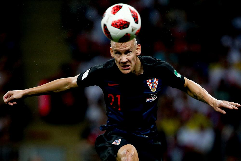Domagoj Vida impressed alongside Dejan Lovren in the centre of Croatia's defence.