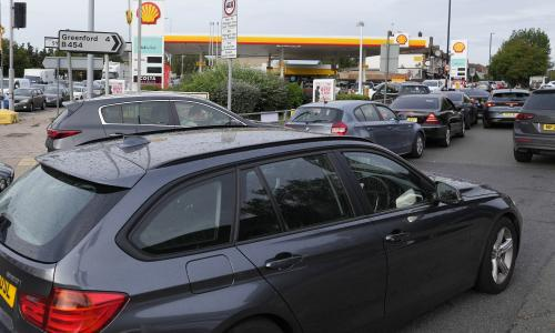 PM says UK fuel situation improving but urges motorists to go about business in 'normal way'– business live