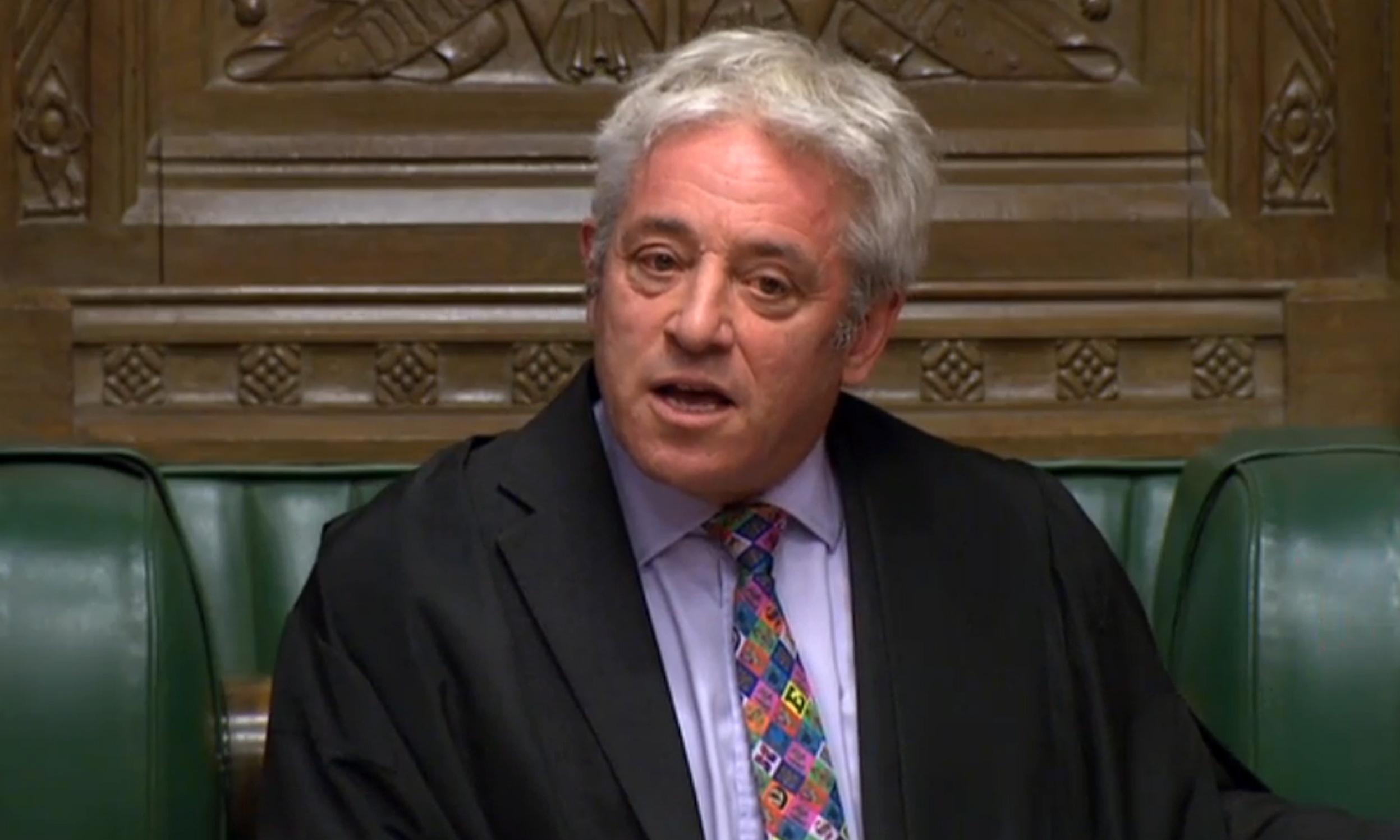 John Bercow denies Boris Johnson second vote on Brexit deal