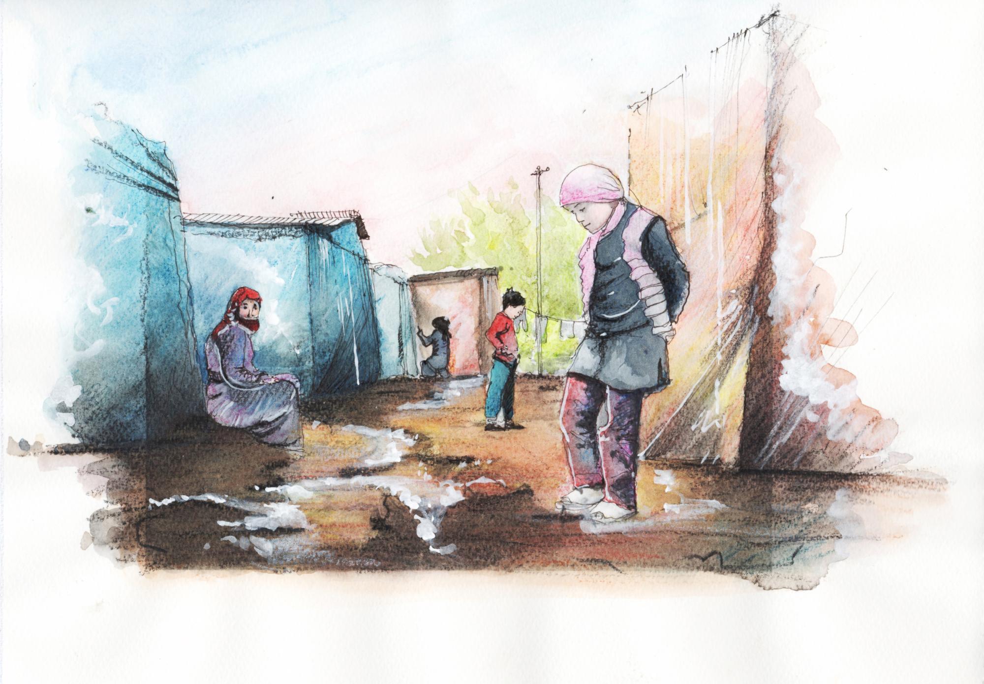 طريق اللجوء إلى أوروبا - قصص مصورة