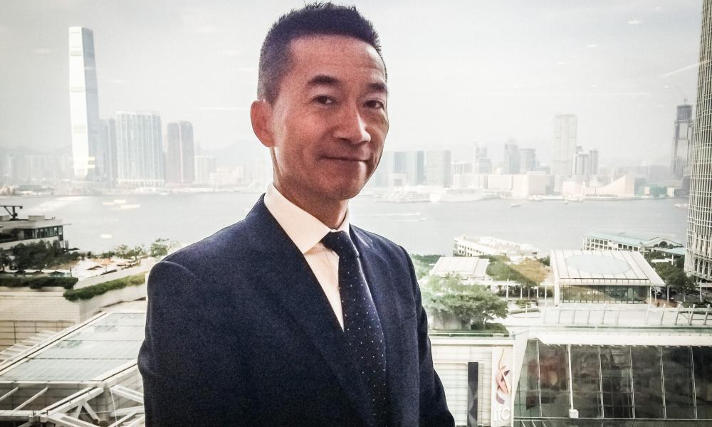 Victor Li in his Hong Kong office
