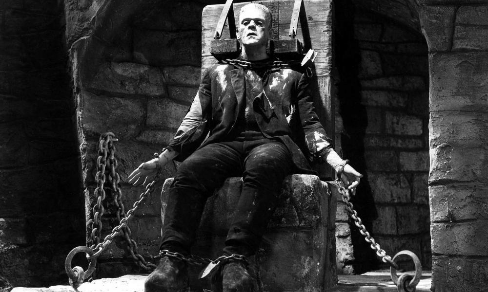 Karloff in The Bride of Frankenstein.