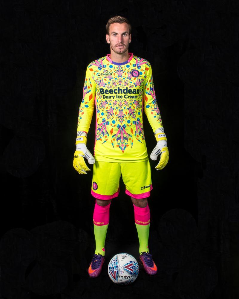 Wycombe Wanderers goalie kit.