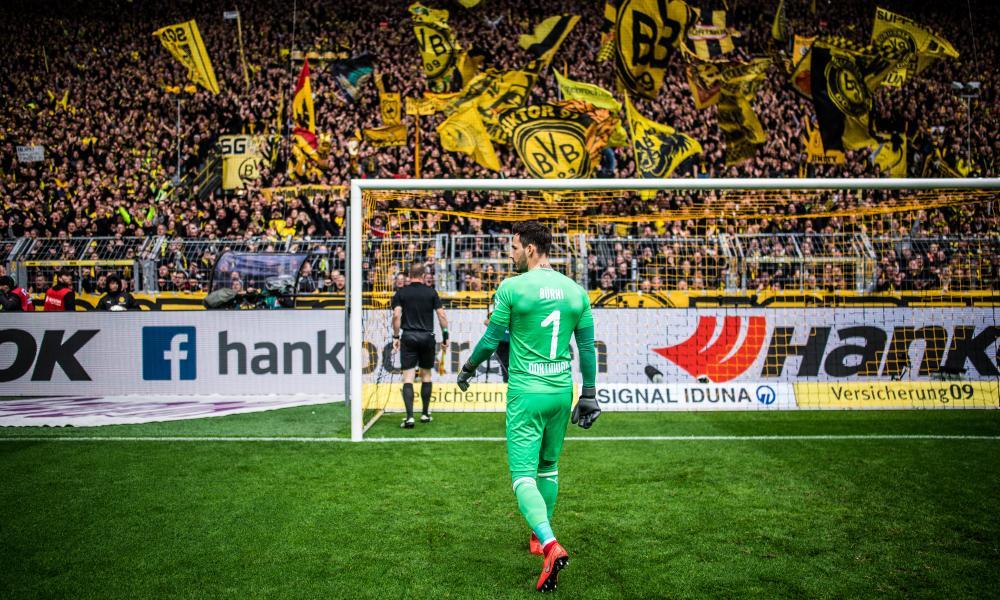 Dortmund goalkeeper Roman Bürki let in four goals.