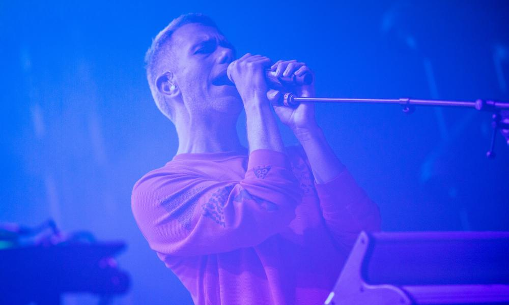 Julian Hamilton of The Presets performing at the 2021 Factory Summer Festival in Perth