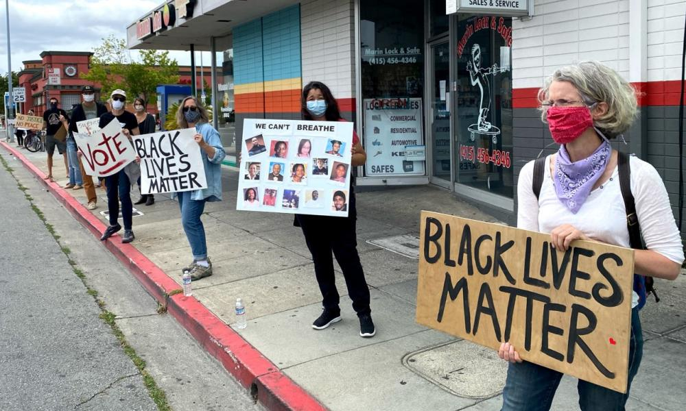 Protest in Marin County.