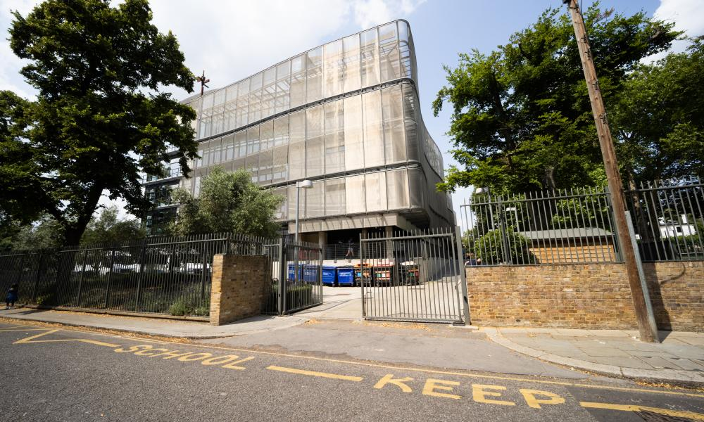 An entrance to Holland Park school in west London.