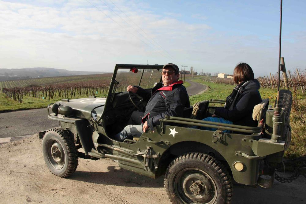 Jeep tour of vineyard.