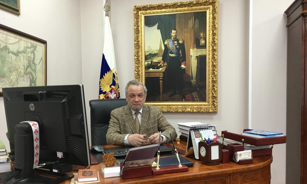 Headteacher Zurab Chavchavadze.