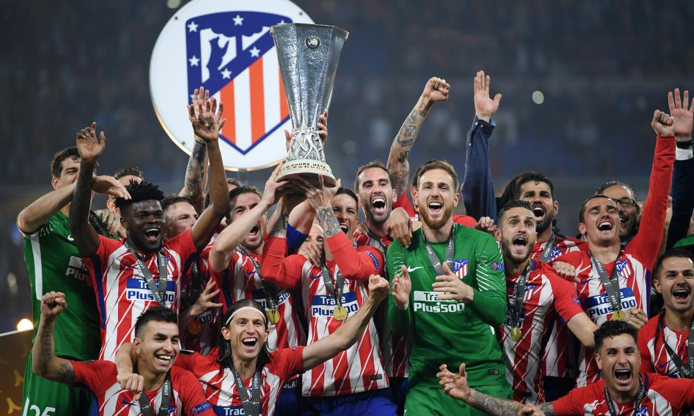Atlético Madrid celebrate after winning the 2018 Europa League final, continuing a golden era for the club.