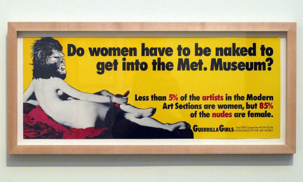 A Guerrilla Girls artwork