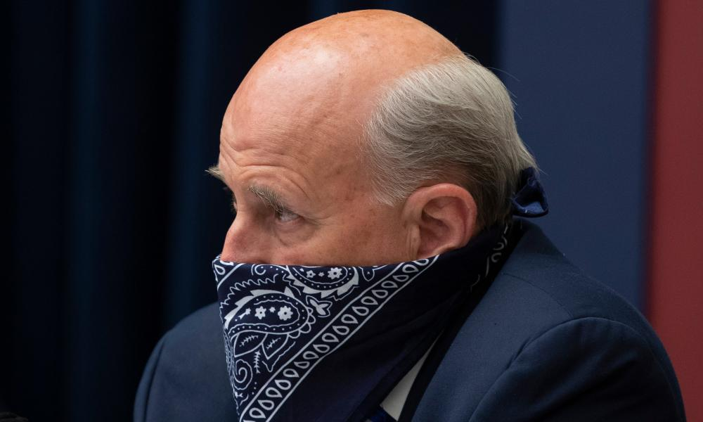 Republican Representative of Texas Louie Gohmert wears a face covering during a committee hearing on Capitol Hill in Washington.