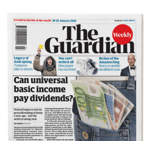 Stack of The Guardian Weekly editions