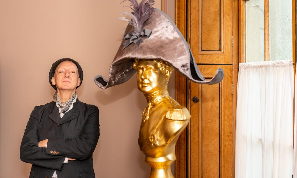 Stephen Jones with a bust of King George IV
