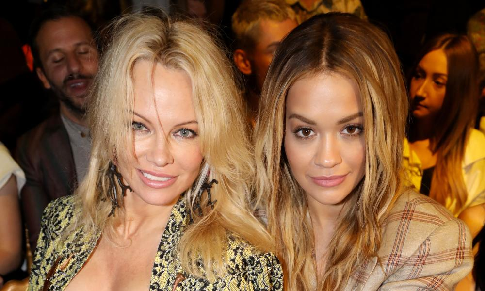 Pamela Anderson and Rita Ora in the front row of Vivienne Westwood's show