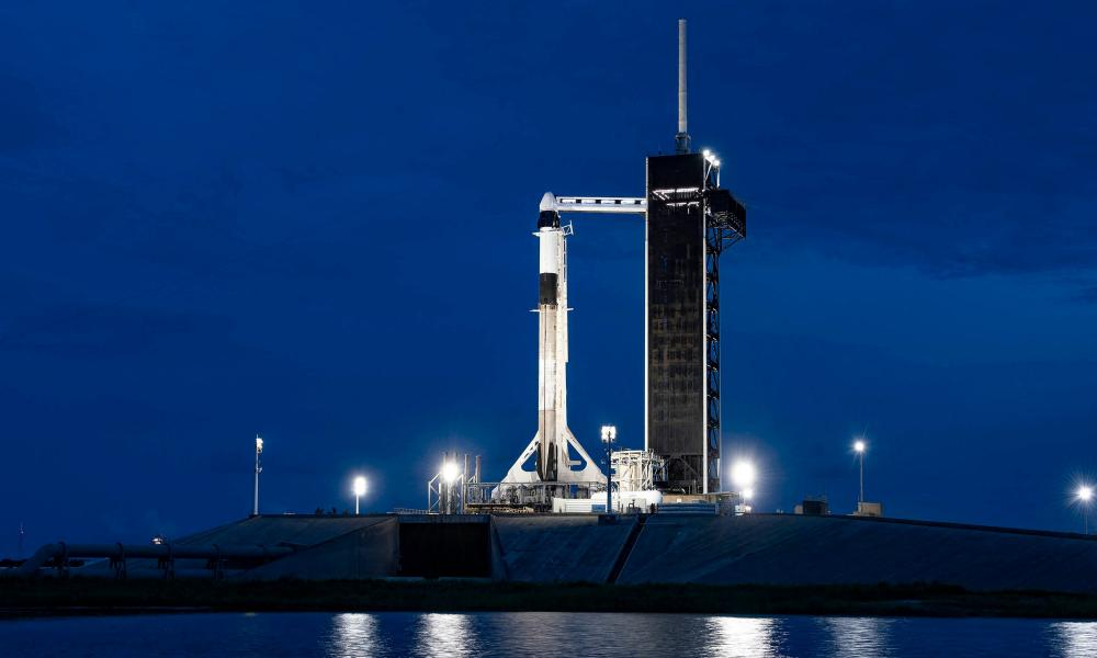 SpaceX's Falcon 9 rocket at Nasa's Kennedy Space Center at Cape Canaveral in Florida.