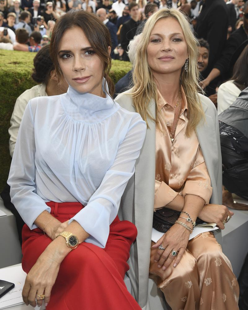 Victoria Beckham and Kate Moss on the front row of the Dior show.