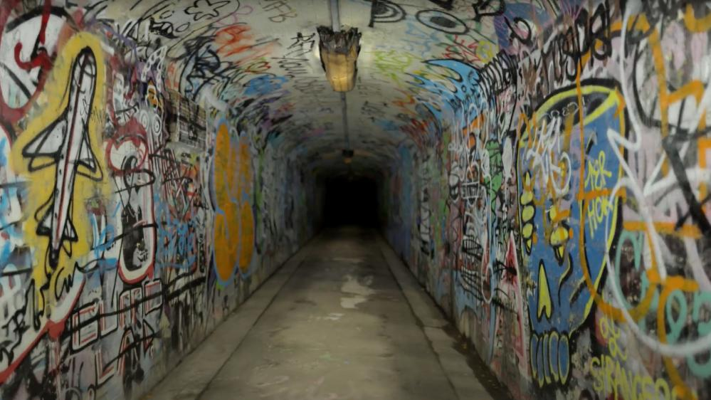 The graffiti tunnel near Julian Hamilton's home that ended up being painted over.