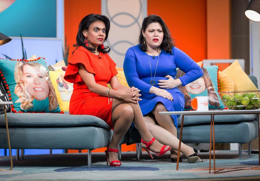 Miranda Tapsell and Nakkiah Lui in the final episode of Get Krack!n season 2.