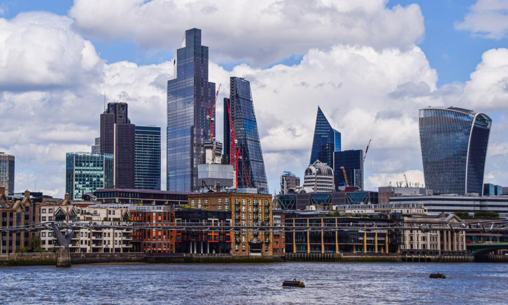 The City of London skyline and River Thames.