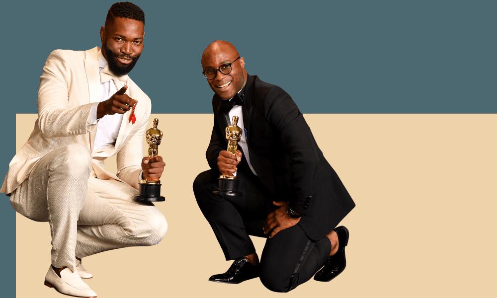Tarell Alvin McCraney, Barry Jenkins e dois Oscars &quot;width =&quot; 1000 &quot;height =&quot; 600 &quot;class =&quot; gu-image &quot;/&gt;    <figcaption> <span class=