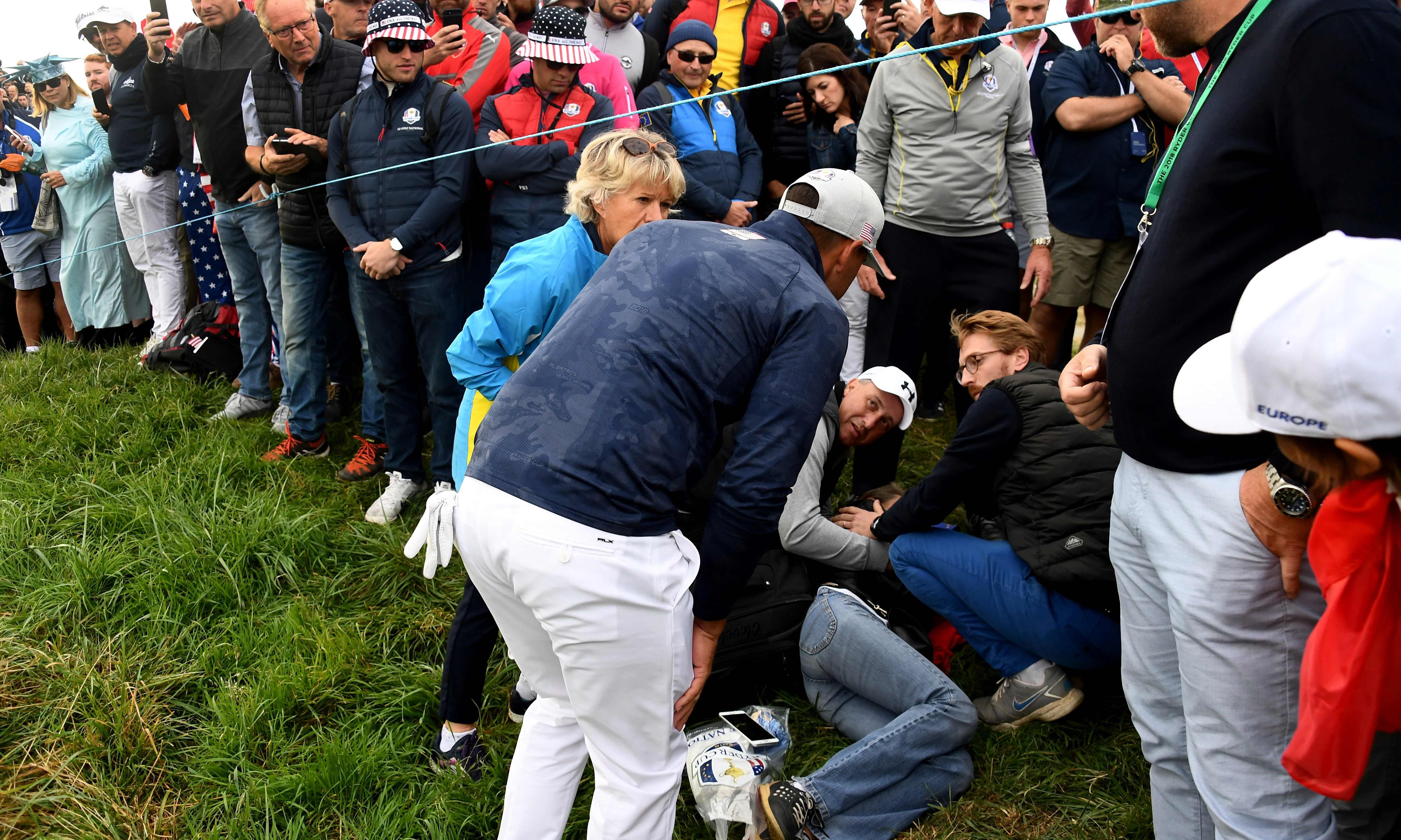 Spectator loses sight in eye after being hit by Brooks Koepka shot at Ryder Cup