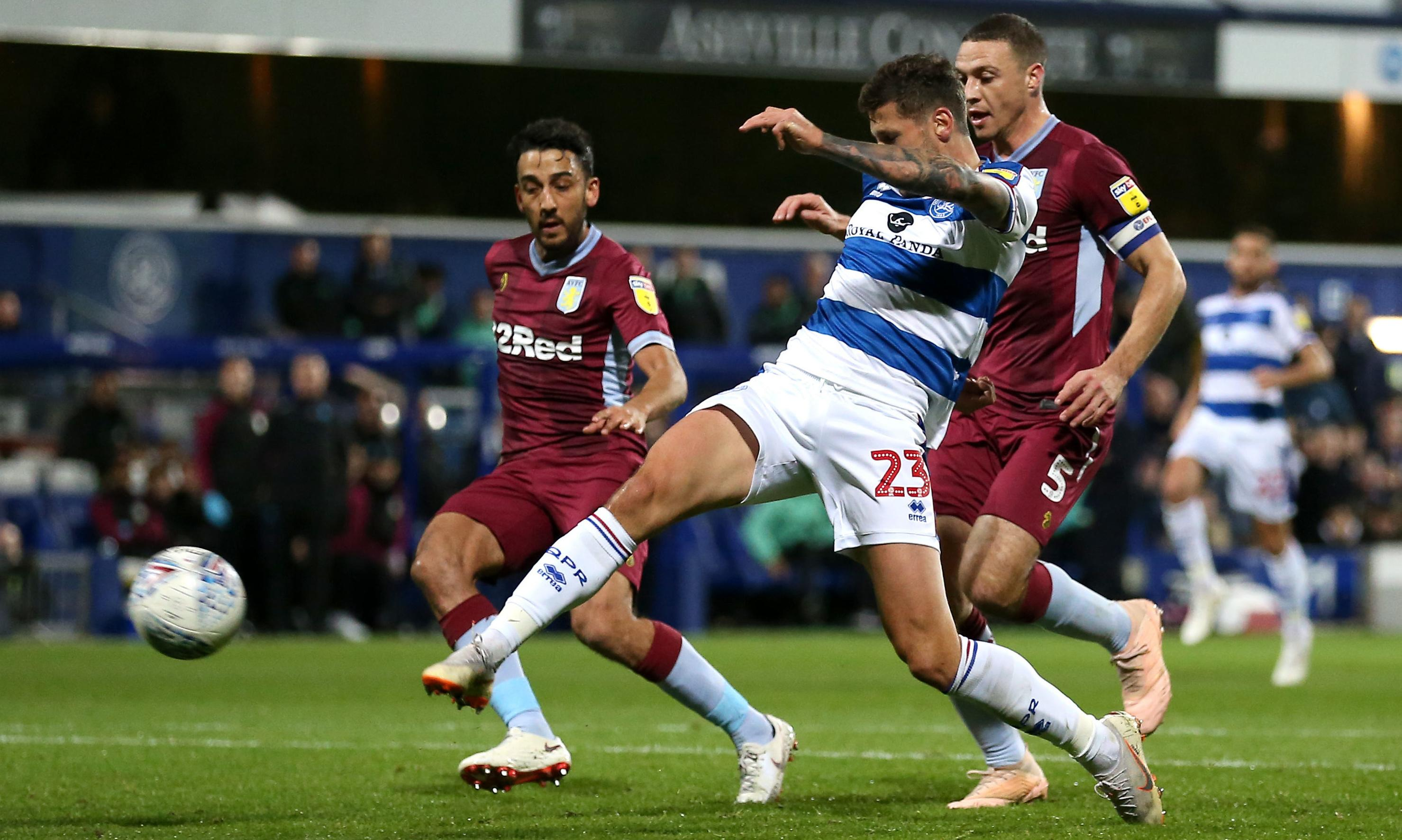 QPR's Pawel Wszolek gives Aston Villa a lesson in the art of finishing