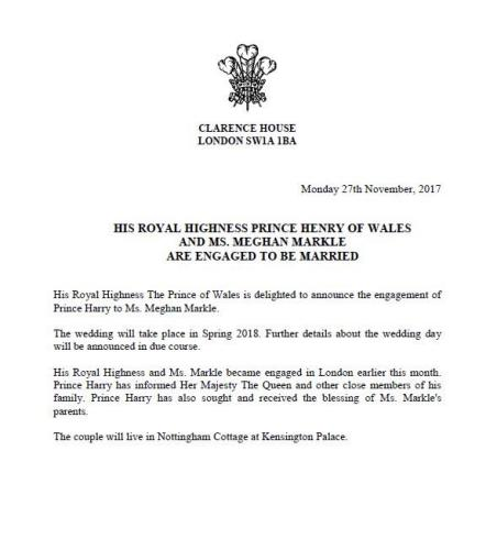 The official announcement.