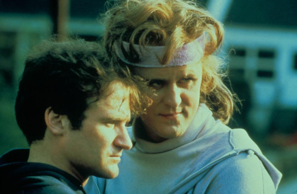 Robin Williams with John Lithgow as the transgender character Roberta in The World According to Garp