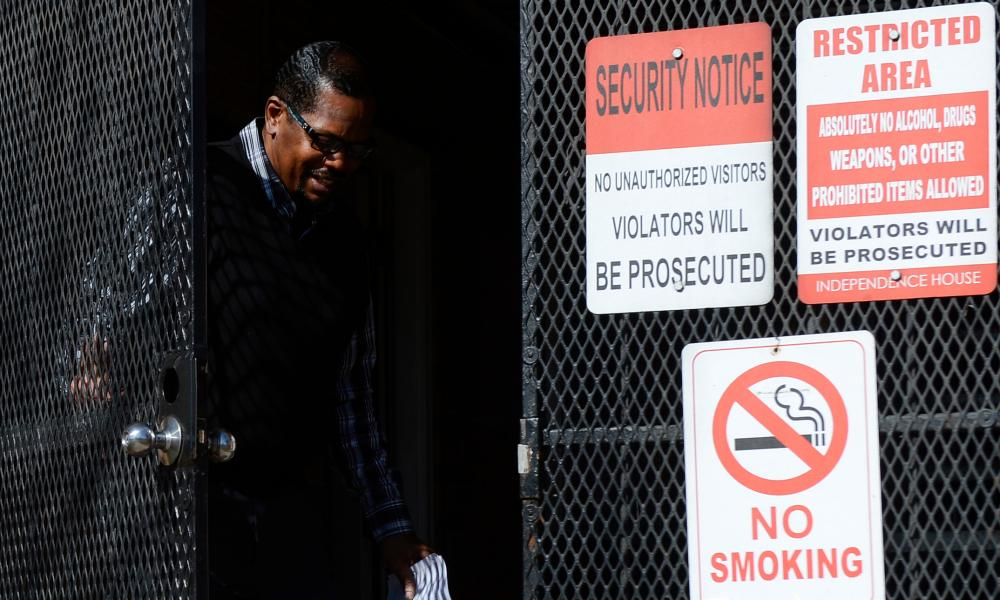 Billy Ray Wheelock exits a halfway house in Denver a free man.