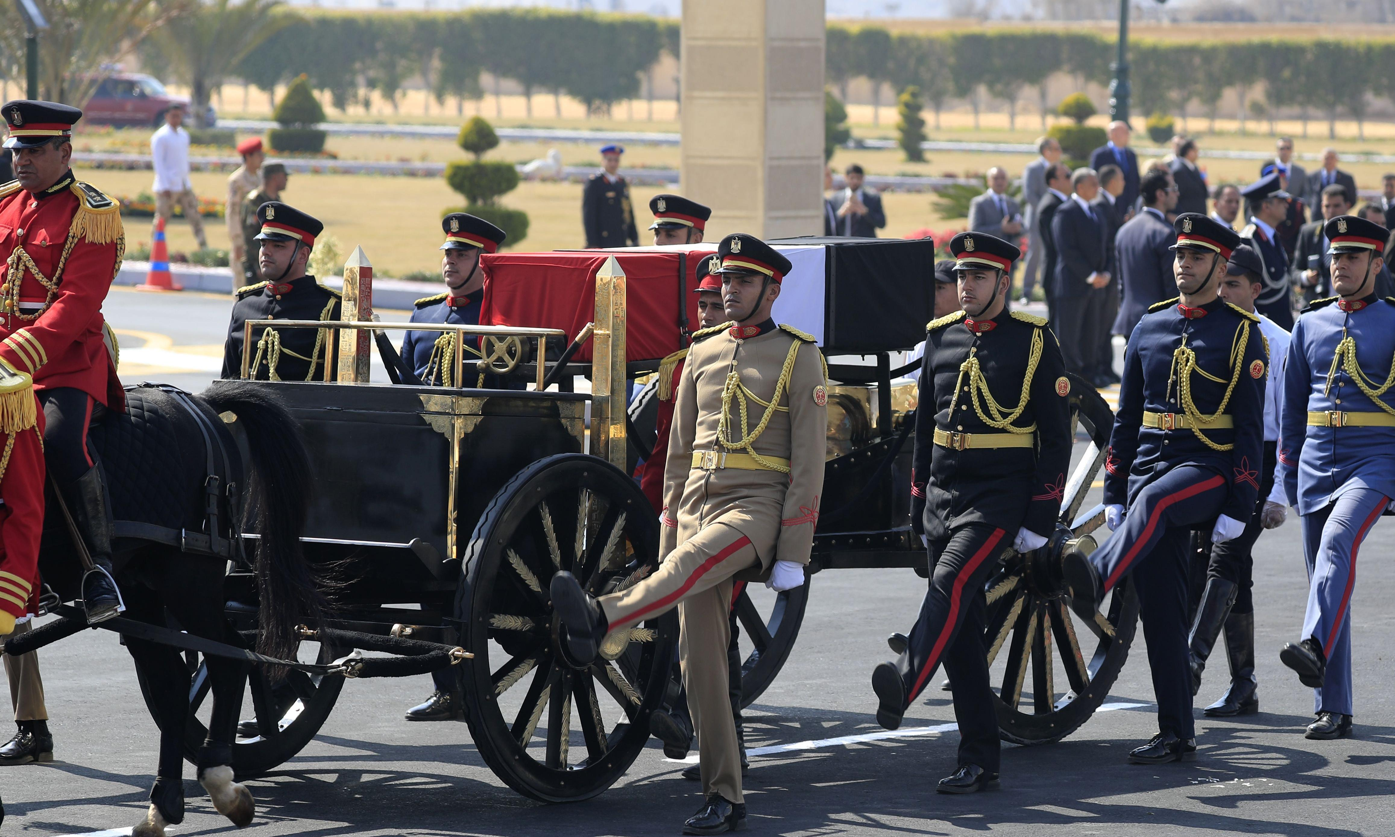 Hosni Mubarak buried with full military honours