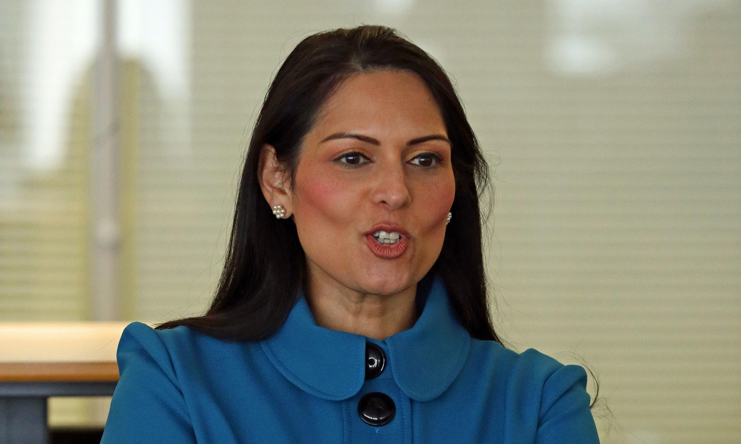 Priti Patel says Tory government not to blame for poverty in UK