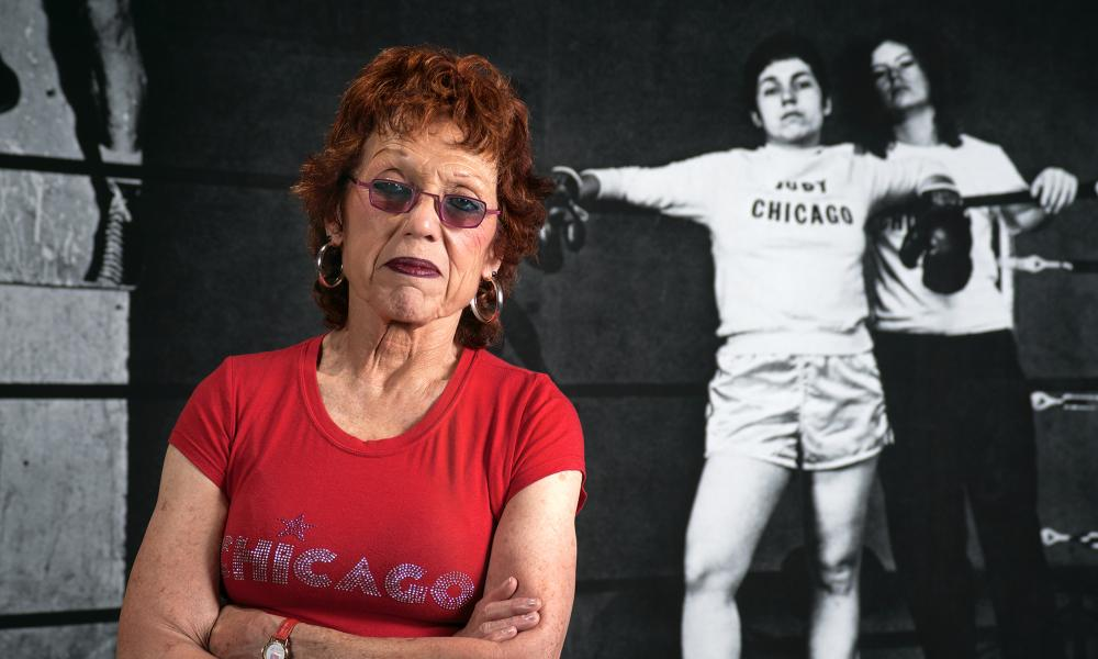 'What is she going to do, paint a vagina?' … Judy Chicago, in front of her boxing parody.